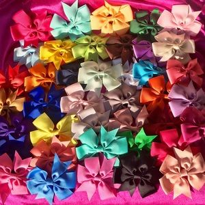 🎀New! 40 Matching Baby Girl Hair Bows Clips🎀
